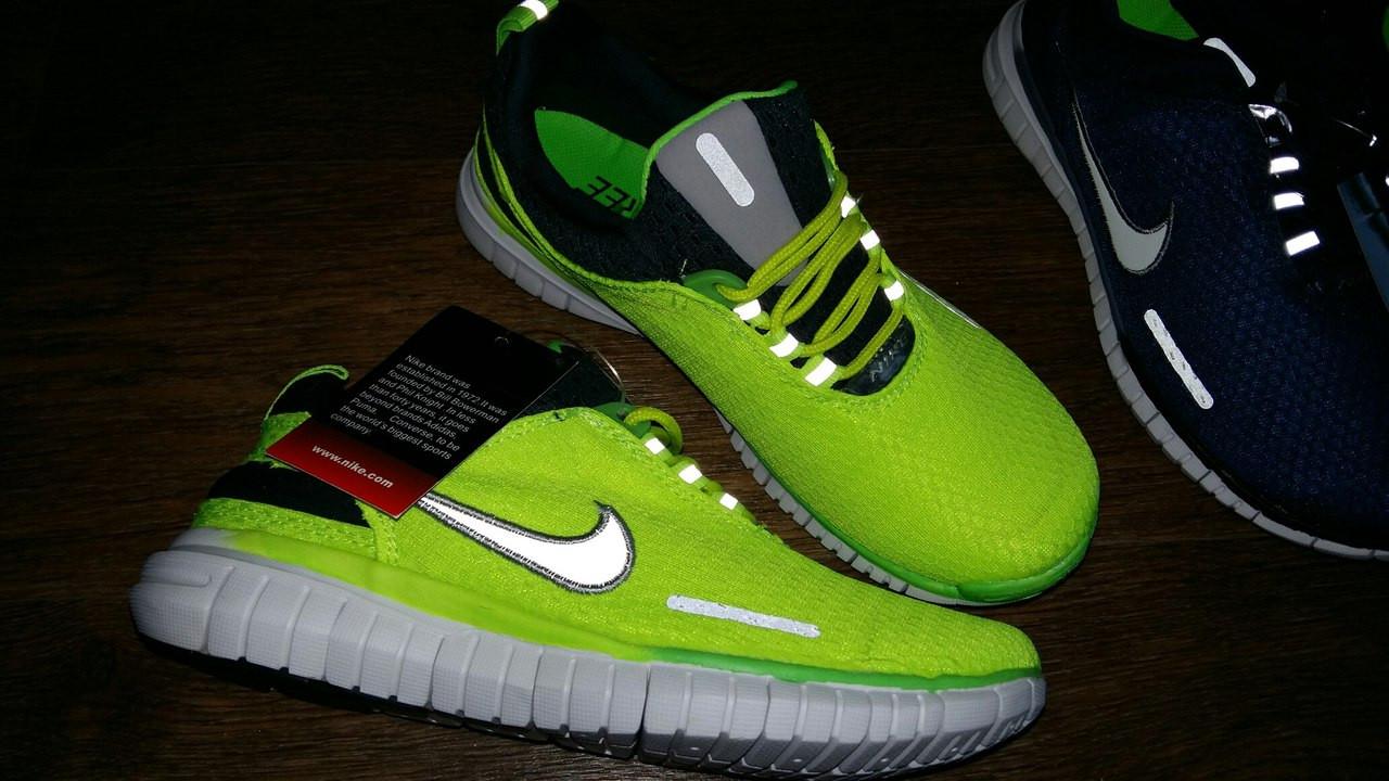 Неоновые кроссовки Nike Free Run в наличии  39
