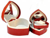Шкатулка для бижутерии украшений из 2 шт. Сердце
