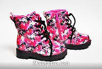 Детские осенние ботинки с цветочным принтом H&M