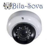 IP-видеокамера TSP-4812H с POE, купольная, 1.3 Mp (1280х960), f=2,8-12мм, ИК до 25 м, Tesla