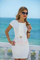 Белое летнее Платье в деловом стиле