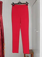 Красные брюки без застежки