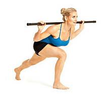 БодиБар (гимнастическая палка Body Bar) металлический обрезиненный Р=5,5 кг L=1240мм