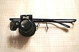 Очна сервіс лупа 20Х у вигляді окулярів з світлодіодним підсвічуванням, фото 3