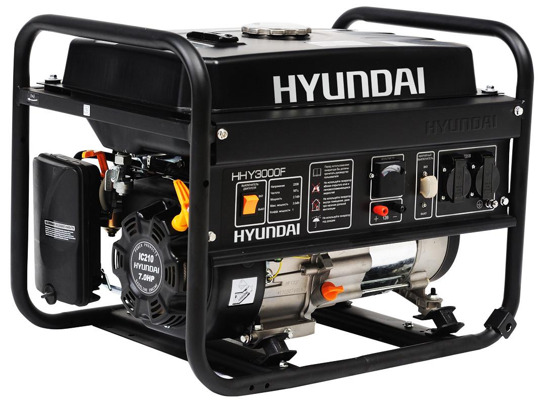Генератор бензиновый Hyundai HHY-3030F (7 л.с.; 3 кВт)