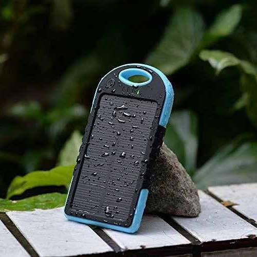 Универсальное портативное зарядное устройство Solar 5000 mAh black + зарядка от солнечной батареи