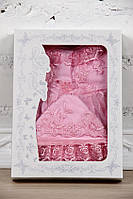 """Набор на выписку для девочки """"Мальвина"""" розовый 56р."""