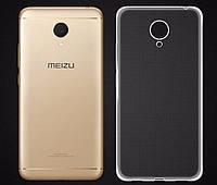 Ультратонкий 0,3 мм чохол для Meizu M3 (M3 Mini) прозорий, фото 1
