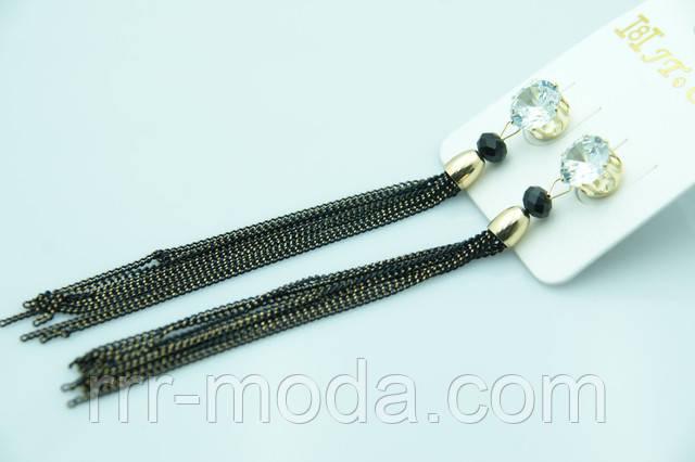 Длинные женские серьги цепочки оптом и в розницу.