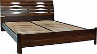 Кровать деревянная Мария, орех темный