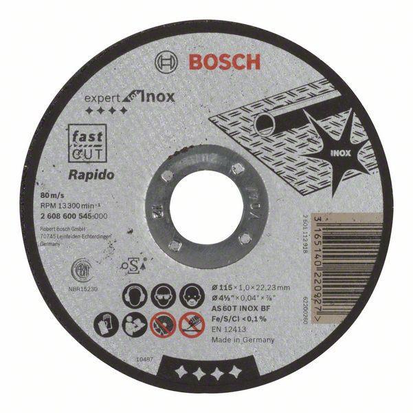 Отрезной круг Bosch Inox 115x1 мм, 2608600545
