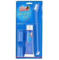 Набор для ухода за зубами собаки 8in1: щетки 2х размеров, зубная паста, 2 напальчника