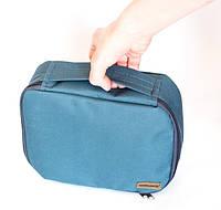 Дорожный органайзер для косметики, косметичка с отстегивающимся карманом. Цвет: серый.