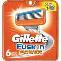 Лезвия Бритвы Кассеты для Станка Gillette Fusion Power-6
