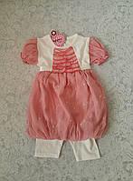 Костюм летний на девочку Платье с короткими лосинами