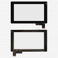 Touchscreen (сенсорный экран) для Prestigio MultiPad 7.0 Ultra (PMP3370B), 51 pin, оригинал, черный