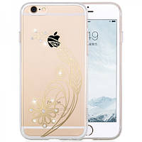 Чехол для iPhone 6/6S Plus - Hoco Super star series (Plating Inlay Diamond Feather)