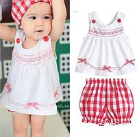 Літній костюм - трійка для дівчат-немовлят