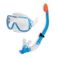 Набор для плавания (маска + трубка) Intex 55950, набор для подводного плавания для детей от 8 лет
