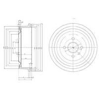 ABS 5122-S = DB4003 Тормозной барабан