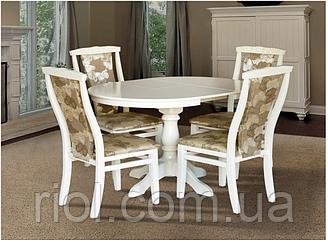 Стол обеденный раскладной Чумак-2 белый / слоновая кость
