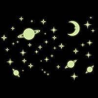 Светящиеся звезды с месяцем и планетами 36 штук