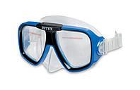 Маска для плавания Sea Scan Swim Intex 55974 2 цвета, маска пловца от 8лет, детская маска для плавания
