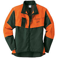 Куртка, ECONOMY PLUS , зеленая/оранжевая, р. S