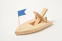 Деревянный конструктор - развивающая игрушка «Кораблик»