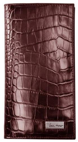 Мужское портмоне с тиснением под крокодил, кожаное ISSA HARA WB2 (22-00)
