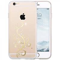 Чехол для iPhone 6/6S Plus - Hoco Super star series (Plating Inlay Diamond Heart)