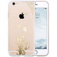 Чехол для iPhone 6/6S Plus - Hoco Super star series (Plating Inlay Diamond Lowed flower)