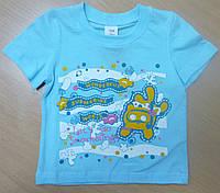 Хлопковая футболка для девочки рост 104