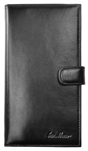 Классическое мужское портмоне на защелке, кожаное ISSA HARA WB2-1 (01-00)