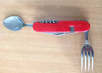 Набор туристический, вилка, ложка, нож, открывашка