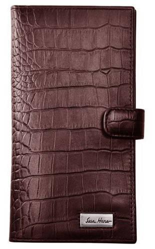 Престижное кожаное мужское портмоне на защелке, матовое ISSA HARA WB2-1 (22-00)