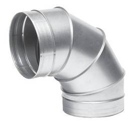 Отвод оцинкованный для воздуховодов 90°