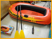 Лодка надувная двухместная+весла+насос EXPLORER 200