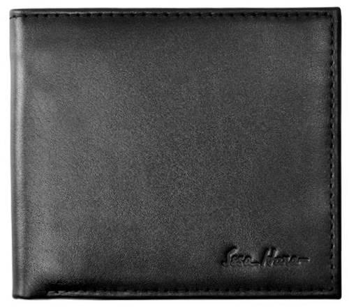 Компактное мужское портмоне, горизонтальное, кожаное ISSA HARA WB1 (01-00)