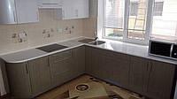 """Кухня """"Жемчужное серебро-2"""" Металлик глянец"""