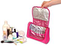 Дорожный органайзер для косметики, косметичка. Premium. Цвет: розовый.