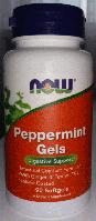 Масло мяты Перечной в капсулах, Now Foods, Peppermint Gels, 90 softgels
