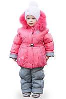 Зимняя куртка и полукомбинезон для девочки Коралл