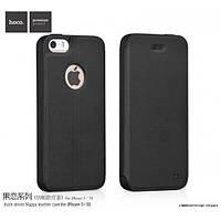 Чехол для iPhone 5 / 5S / SE - Hoco Juice Nappa series, черный