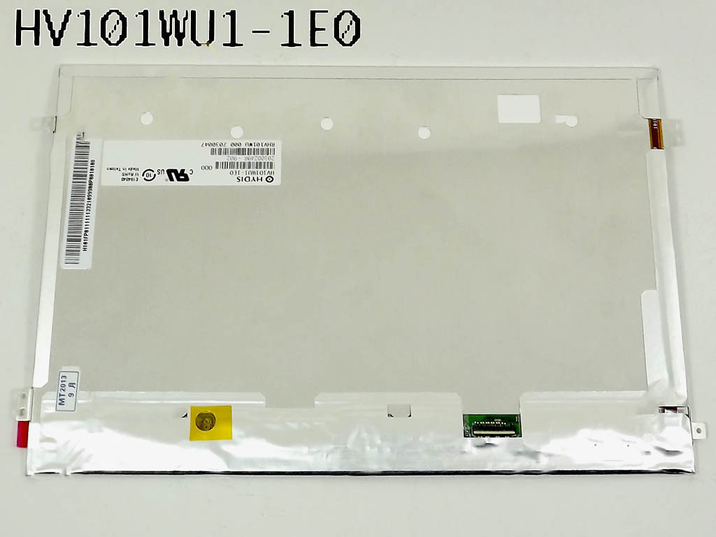 "Матрица 10.1"" HV101WU1-1E0 (1920*1200, 45pin(MIPI), LED, SLIM (ушки по бокам), глянцевая, разъем справа внизу,"