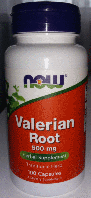 Корень валерианы, Now Foods, Valerian Root, 500 mg, 100 caps