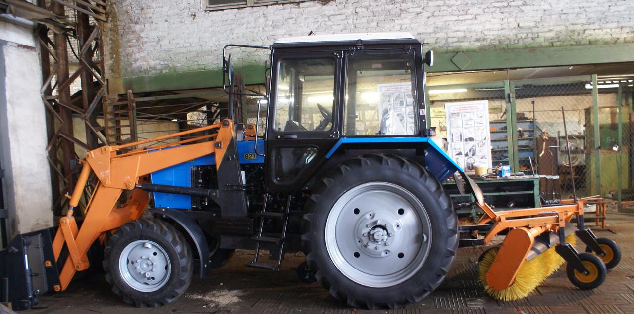 Дорожная фреза для трактора МТЗ Беларус - YouTube