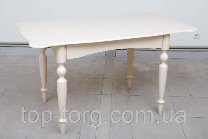 Стол обеденный Омега бежевый 1030(+340)*740мм раскладной