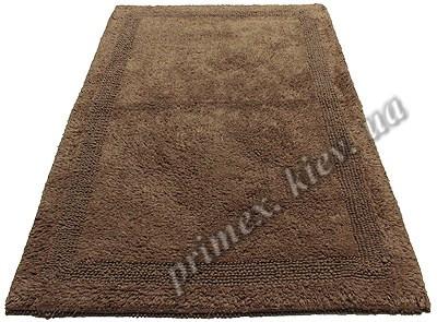 """Индийский коврик ручной работы для ванной """"Инсайд"""", цвет - коричневый"""
