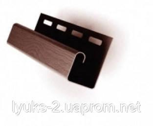 Планка J-trim FaSiding коричневая